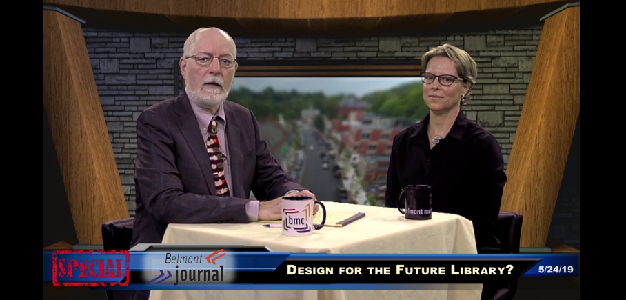 Chair of Library Building Committee interview on Belmont Journal