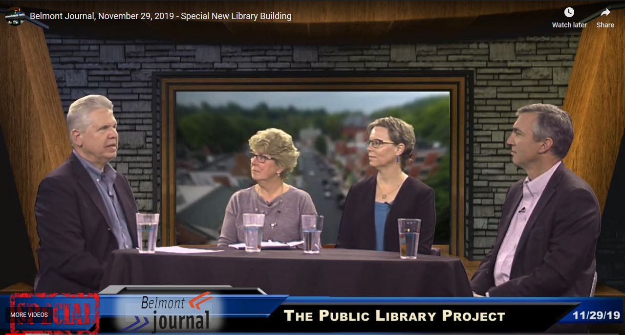 "Belmont Journal's ""Special Edition – Belmont Library Project"" panel discussion"